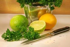 Perejil y fruta de los citris imagen de archivo libre de regalías
