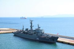 Perekop Russisch militair schip Stock Fotografie