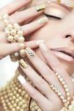 Perełkowy manicure Obrazy Royalty Free