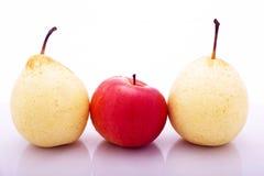 Peren en appel Royalty-vrije Stock Afbeeldingen