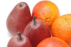 Peren en sinaasappelen royalty-vrije stock foto