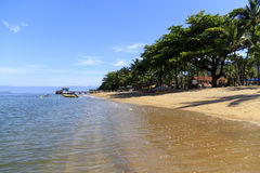 Pereque's beach in Ilhabela, Brazil Royalty Free Stock Photos