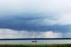 Pereslavl小船 库存照片