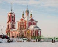 Pereslavl Zaleski im Winter Stockbild