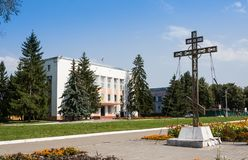 Pereslavl-Zalessky, Ρωσία - 20 Αυγούστου 2017: Κτήριο διοίκησης σταυρών και πόλεων σε pereslavl-Zalessky, περιοχή Yaroslavskaya Στοκ φωτογραφία με δικαίωμα ελεύθερης χρήσης