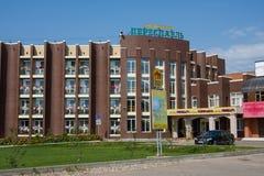 PERESLAVL-ZALESSKY, ΡΩΣΊΑ - 20 ΑΥΓΟΎΣΤΟΥ 2017: Ξενοδοχείο Στοκ Εικόνες