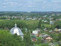 Pereslavl-Zalessky. Panorama of the town Pereslavl-Zalessky (Russia Royalty Free Stock Image
