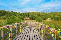 Pereslavl-Zalessky, Russia, September 2, 2018: Observation deck in the national Park royalty free stock images