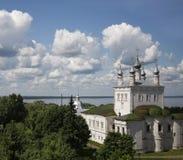 Pereslavl-Zalessky Ryssland All helgonkyrka på Plescheevo sjön för russia för cirkel för domkyrkademetrius guld- vladimir för lop Arkivfoto