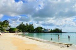 Pereybere strand, Mauritius Fotografering för Bildbyråer