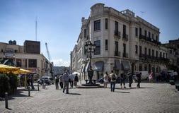 Perez Castellanos Pedestrian Street Montevideo, Uruguay Foto de archivo libre de regalías