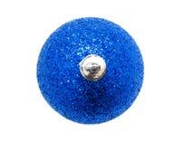 Perfec bożych narodzeń błękitna piłka odizolowywająca Zdjęcie Royalty Free