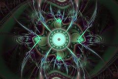 Perfección en geometría La frecuencia hermosa del fractal forma el ejemplo Los fractales pueden ilustrar el universo, galaxias, c Imagen de archivo
