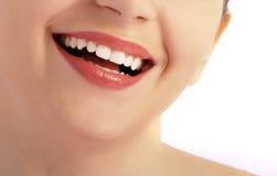 Perfeccione la sonrisa Fotografía de archivo