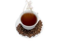 Perfeccione la taza del café con leche Imagenes de archivo