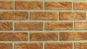 Perfect ściana z cegieł tło w domu Zdjęcie Stock
