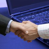 Perfect agreement. With left-handed businessmen Stock Image