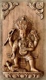 Nepali hand carved wood panel series Stock Photos