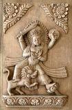 Nepali hand carved wood panel series Royalty Free Stock Photos