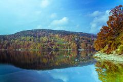 Perfect autumn lake scenery Stock Image