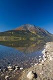 Perfect autumn mountain reflection, Atlin Lake Royalty Free Stock Image