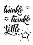 Twinkle twinkle little star poster banner greeting card design vector illustration