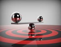 Perfect balance-target. 3d concept Stock Photography