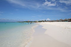 The perfect beach. Eagle beach in Aruba, the Dutch Antilles Stock Images