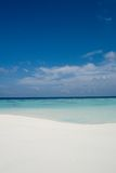 Perfect beach. Beach with on an Island in the Maldives royalty free stock photos