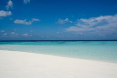 Perfect beach. Beach with on an Island in the Maldives stock images