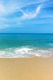 Perfect beach. Beautiful white sand tropical beach Stock Photography