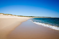 Perfect Beach. Four Mile Beach in Western Australia. Southern Ocean. Space for Copy stock image