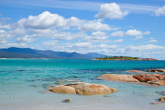 Perfect beach in Bicheno, Tasmania. Perfect White Beach in Diamond Beach ,Bicheno, Tasmania, Australia Stock Image