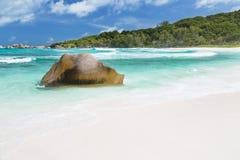 Perfect Beach, La Digue, Seychelles Stock Photos