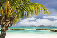 Perfect Beach, La Digue, Seychelles Royalty Free Stock Photos