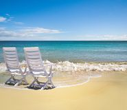 Perfect beach setting Royalty Free Stock Image