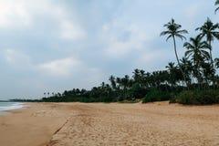 Empty, uncrowded coastline of south Sri Lanka stock images