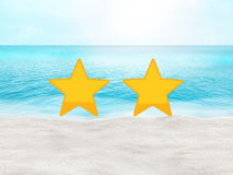 Perfect beach summer travel hotel and place rating concept Stock Photography