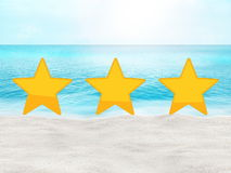 Perfect beach summer travel hotel and place rating concept. Graphic background design royalty free stock photos