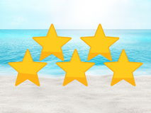 Perfect beach summer travel hotel and place rating concept. Graphic background design stock images