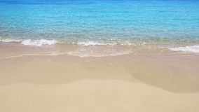 Perfect beach in turquoise aqua color and the waves. In the shore sand stock video footage