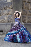 Perfect beauty in a gorgeous dress Stock Images
