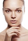 Perfect beauty woman closeup portrait Royalty Free Stock Image