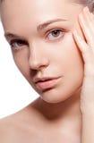 Perfect beauty woman closeup portrait Stock Photo