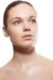 Perfect beauty woman closeup portrait Royalty Free Stock Image