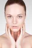 Perfect beauty woman closeup portrait Stock Photos