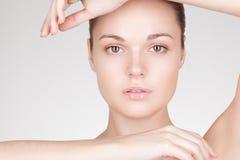 Perfect beauty woman closeup portrait Stock Images