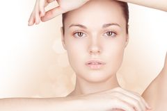 Perfect beauty woman closeup portrait Stock Image