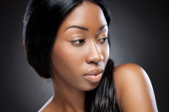 Perfect black beauty closeup Stock Images