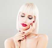 Perfect Blonde Woman Fashion Model. Cute Girl Royalty Free Stock Image